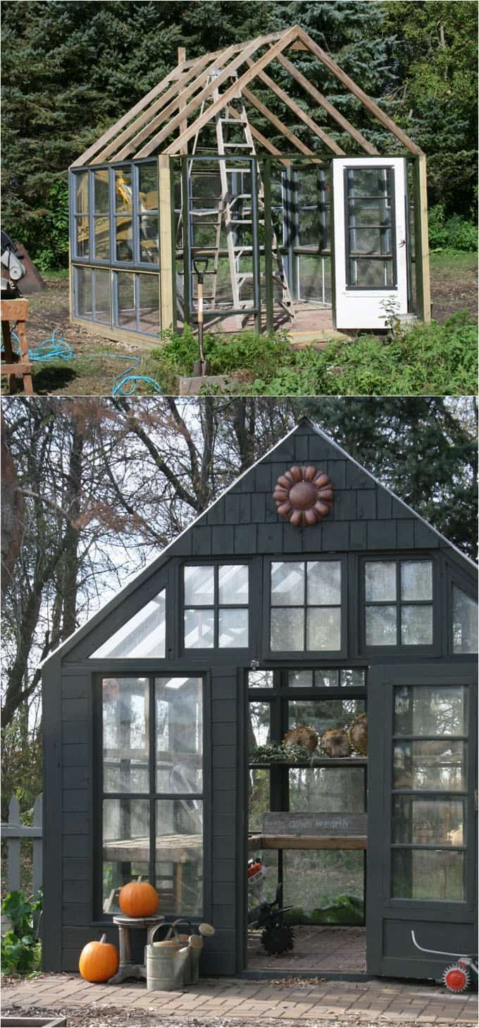 diy garden office plans. 12 Amazing DIY Sheds And Greenhouses: How To Create Beautiful Backyard Offices, Studios Diy Garden Office Plans
