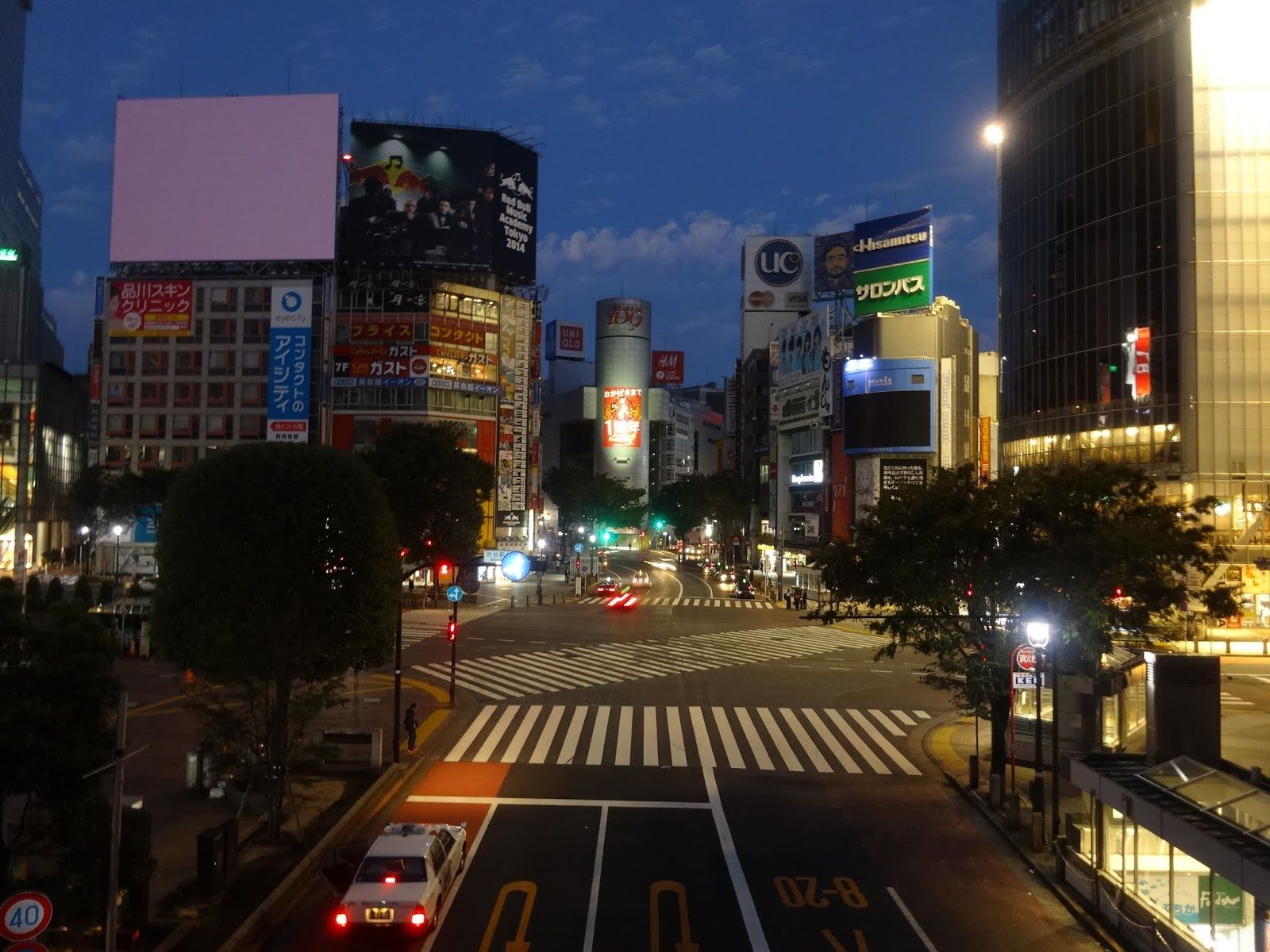 ふり フォトフォト 著作権フリー無料画像 夜景 渋谷駅前
