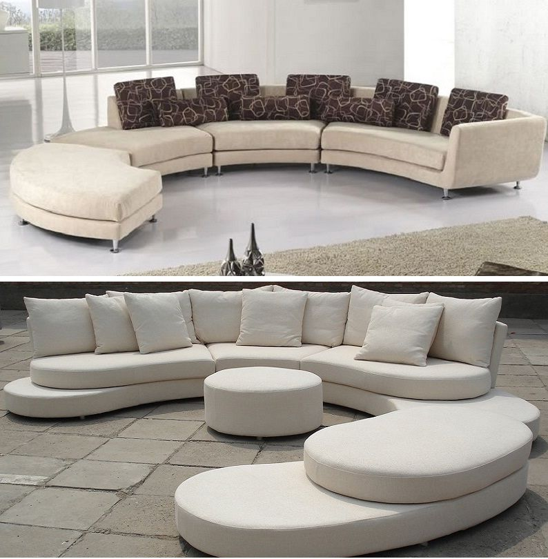 Curved Sofa Sectional Modern Modern Sectional Sofas For Small Spaces Curved Sofa