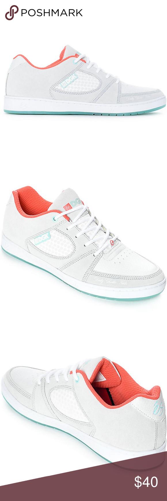 62af5fa043b652 eS x DGK Accel Slim Grey  amp  White Skate Shoes  New no box