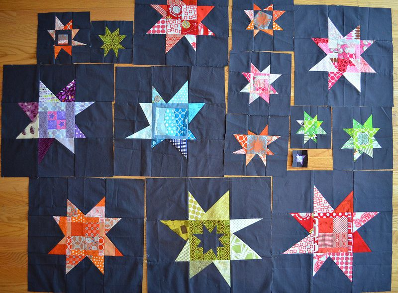 Wonky Stars Received So Far From The Twelve Month Quilting Bee Quilts Star Quilt Blocks Star Quilt Patterns