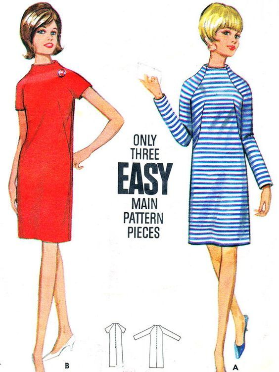 vintage bib front shift dress pattern - Google Search | Patrones de ...