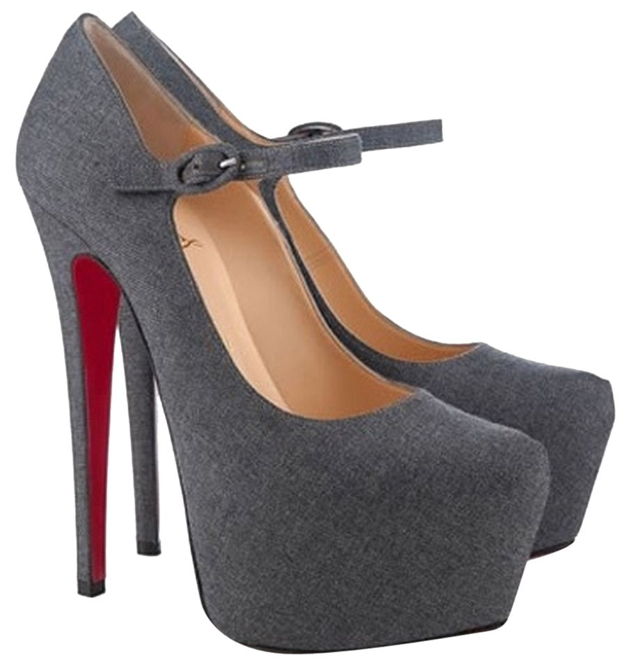 22a1a66c7 Christian Louboutin 160 Lady Daf Daffodile Mary Jane Platform 38.5 8.5 Gray  Pumps. Get the must-have pumps of this season! These Christian Louboutin  160 ...