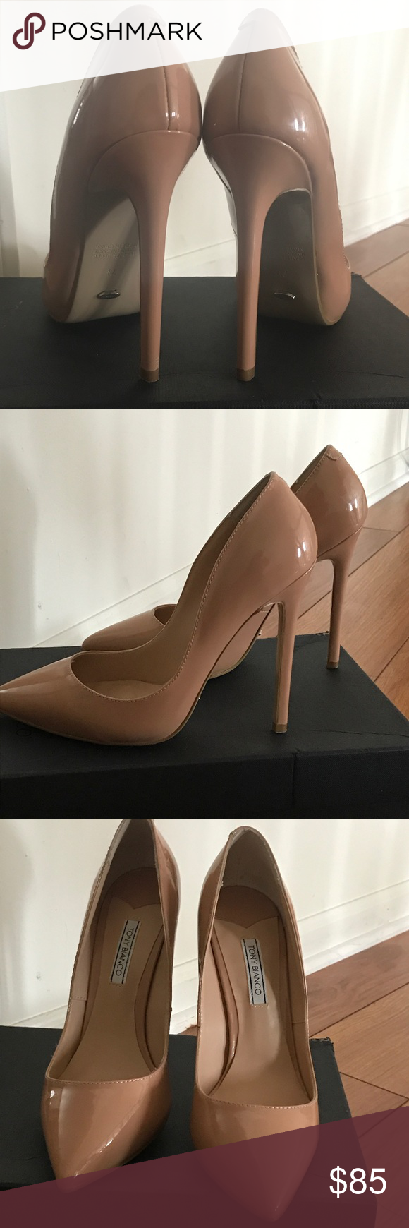 90eaf09b6c Nude patent Tony Bianco pointed leola size 7.5 These are the nude leolas by tony  Bianco. Fabulous, classic shoe. Nice quality. Worn once... my feet are ...