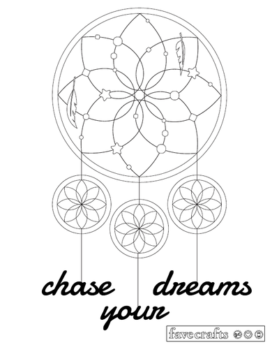 black and white dream catchers coloring pages | Dream Catcher Coloring Page for Adults | Free Adult ...