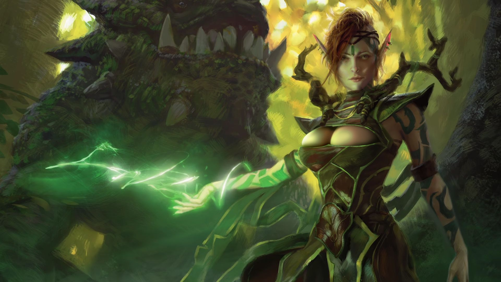 3D Magic Boobs elfhame druid (edit/alter) #mtg #magic_the_gathering mtg