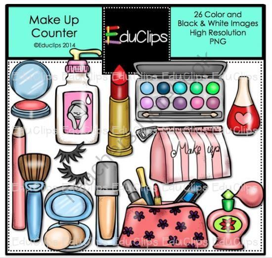 Make Up Counter Clip Art Bundle from Educlips on TeachersNotebook.com -  (26 pages)  - Make Up Counter Clip Art Bundle