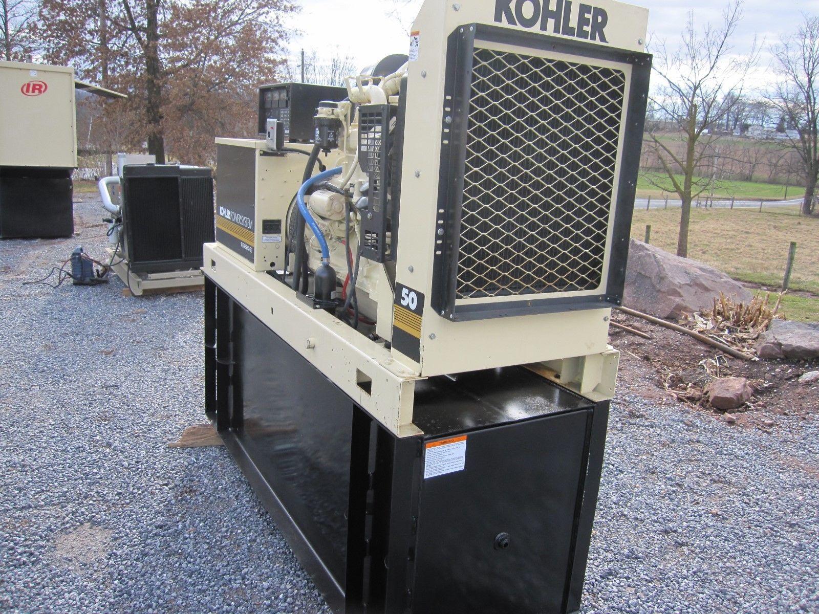 49 KW KOHLER DIESEL GENERATOR RE FURBISHED ON BOARD FUEL TANK LOW