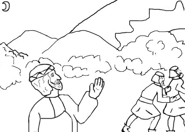 The day the Sun stood still Joshua coloring page VBS Pinterest - copy coloring pages for zacchaeus
