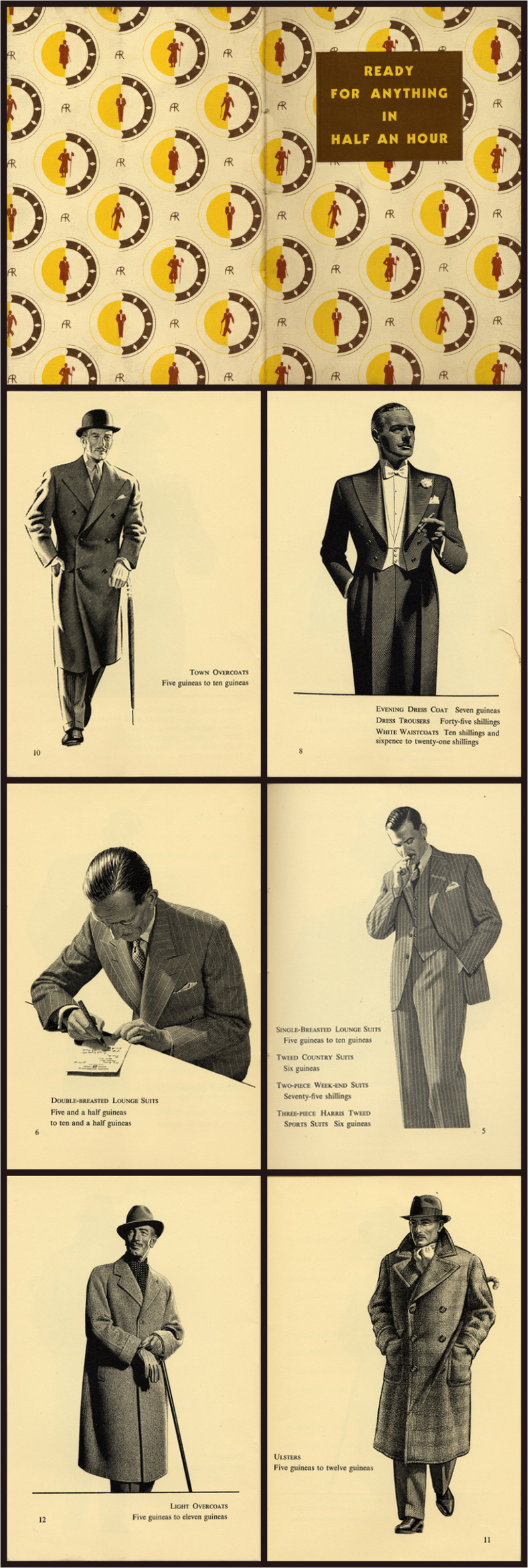Men S Fashion Sales Brochure Ready For Anything In Half An Hour 1930s Austin Reed Tailoring Shops Eng Vintage Advertisements Vintage Gentleman Fashion Sale