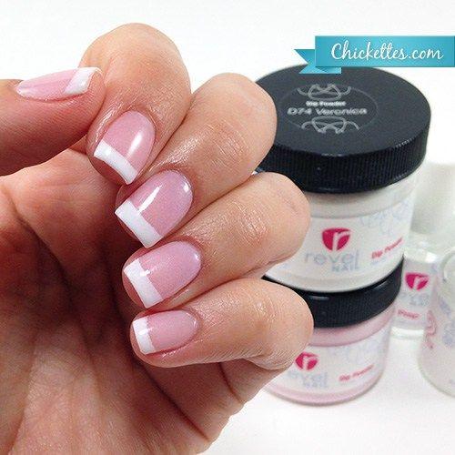 Revel Nail Acrylic Dip Powder Pink Amp White French