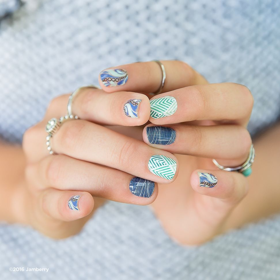 Diy Nail Ideas Doc Martens Nail Art And More Of Our: Blue Is A Color That You Can Wear All Year Round. What Are