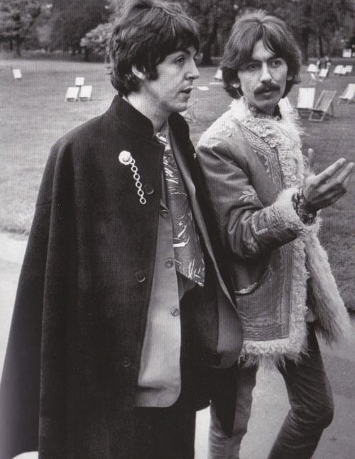 Paul and George in London, May 1967