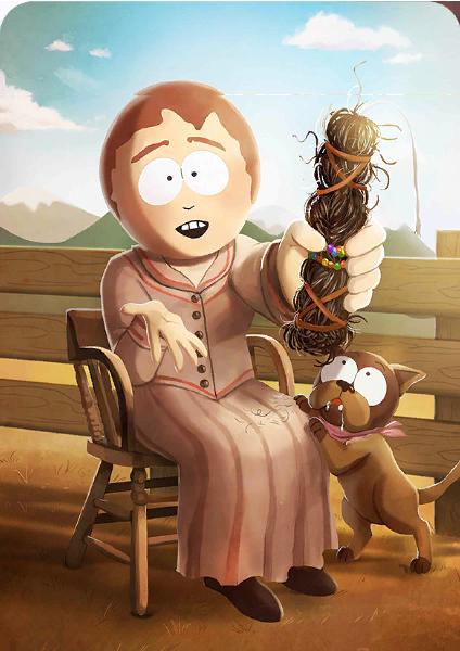 Medicine Woman Sharon Card In Phone Destroyer South Park Funny South Park Kenny South Park