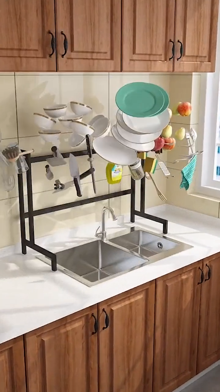 Dish Sink Drain Rack #kitchenorganizationdiy