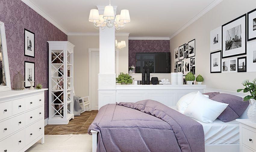 Kis lakás provence-i stílusban, külön hálószoba nélkül, kényelmes ...