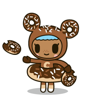 donutella coloring pages donutella her sweet friends - Tokidoki Donutella Coloring Pages