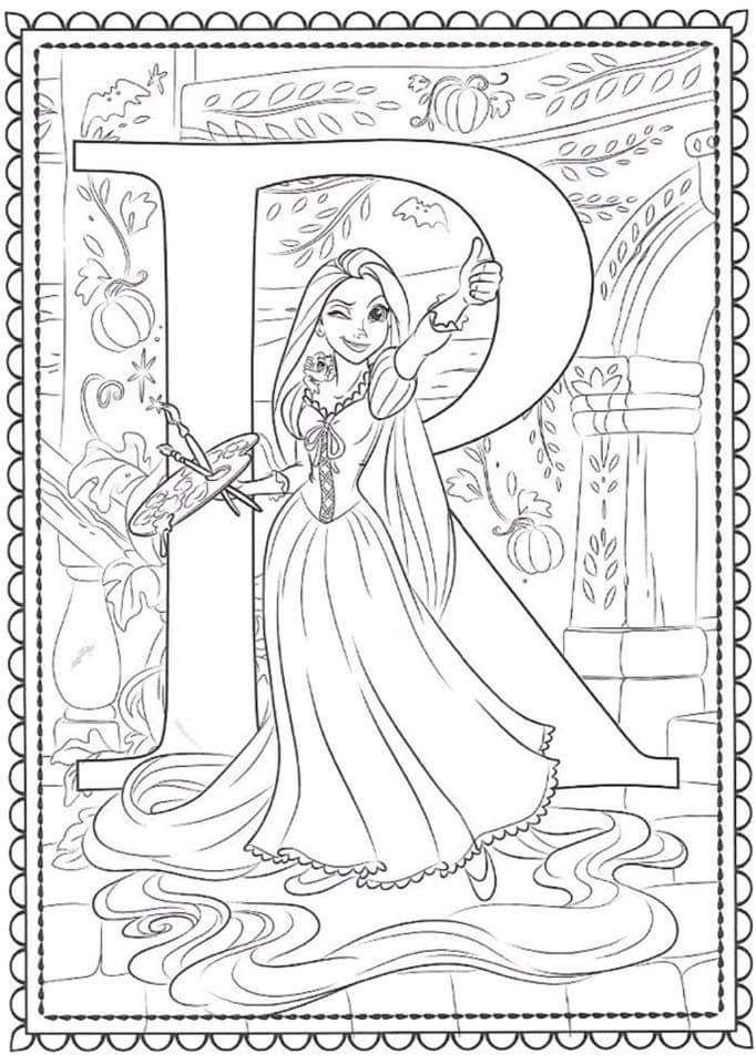 Pin By Morgana Salviano On Disney Alphabet In 2020 Disney Coloring Sheets Abc Coloring Pages Cinderella Coloring Pages