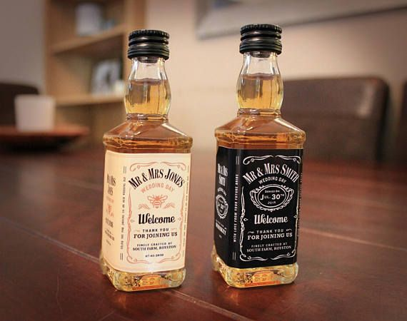 Personalised Wedding Favours Jack Daniels Whiskey Style Labels ...