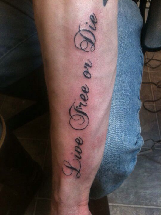 Live free or die tattoo | Idea | Tattoos, Live free or die, Tattoo ...