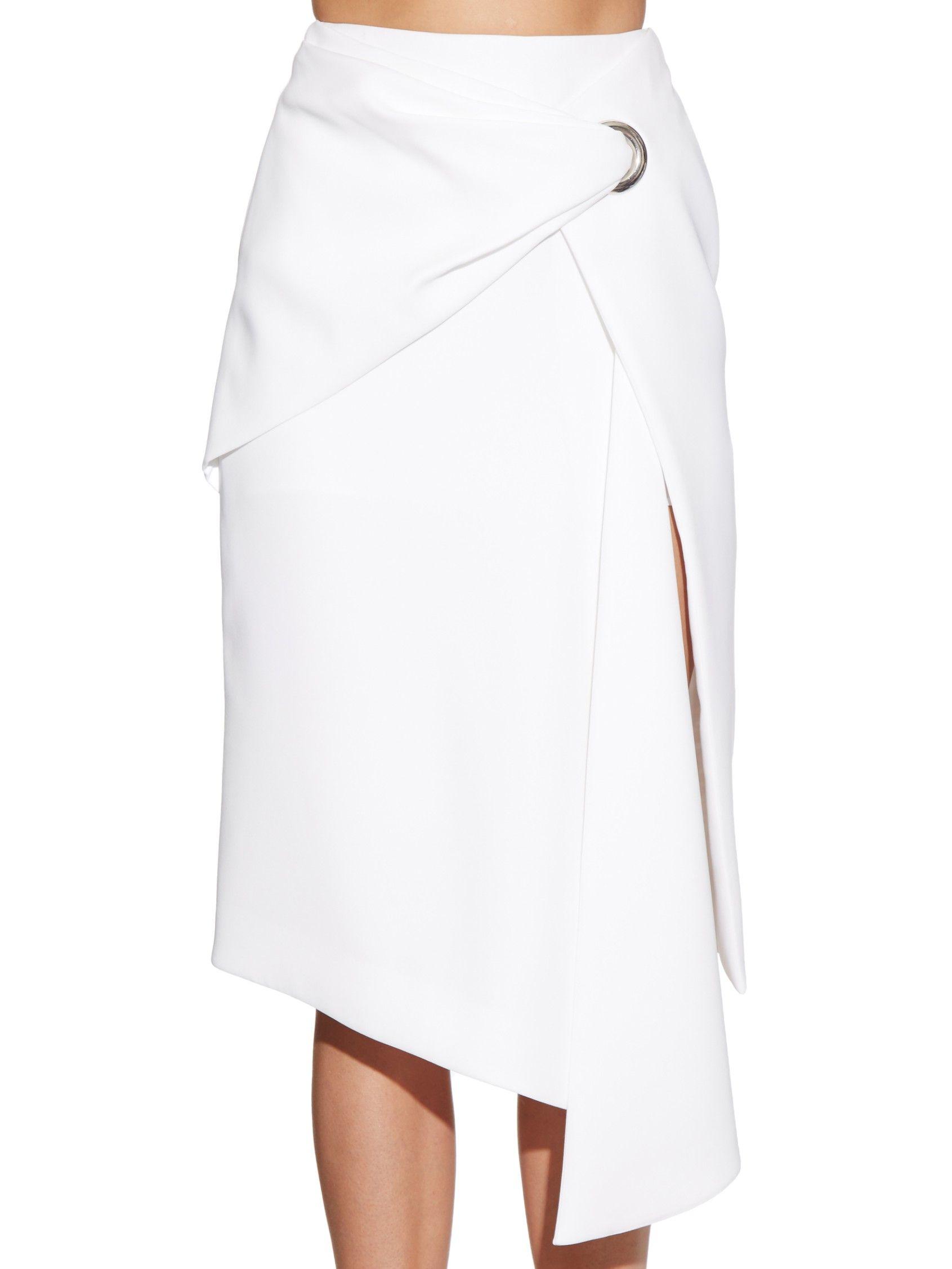 Japanese crepe drape skirt | Balenciaga | MATCHESFASHION.COM UK ...