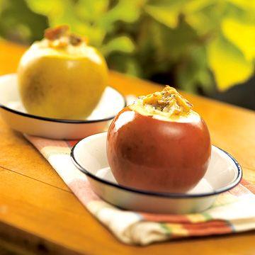 Gorgonzola-and-Walnut-Stuffed Apples