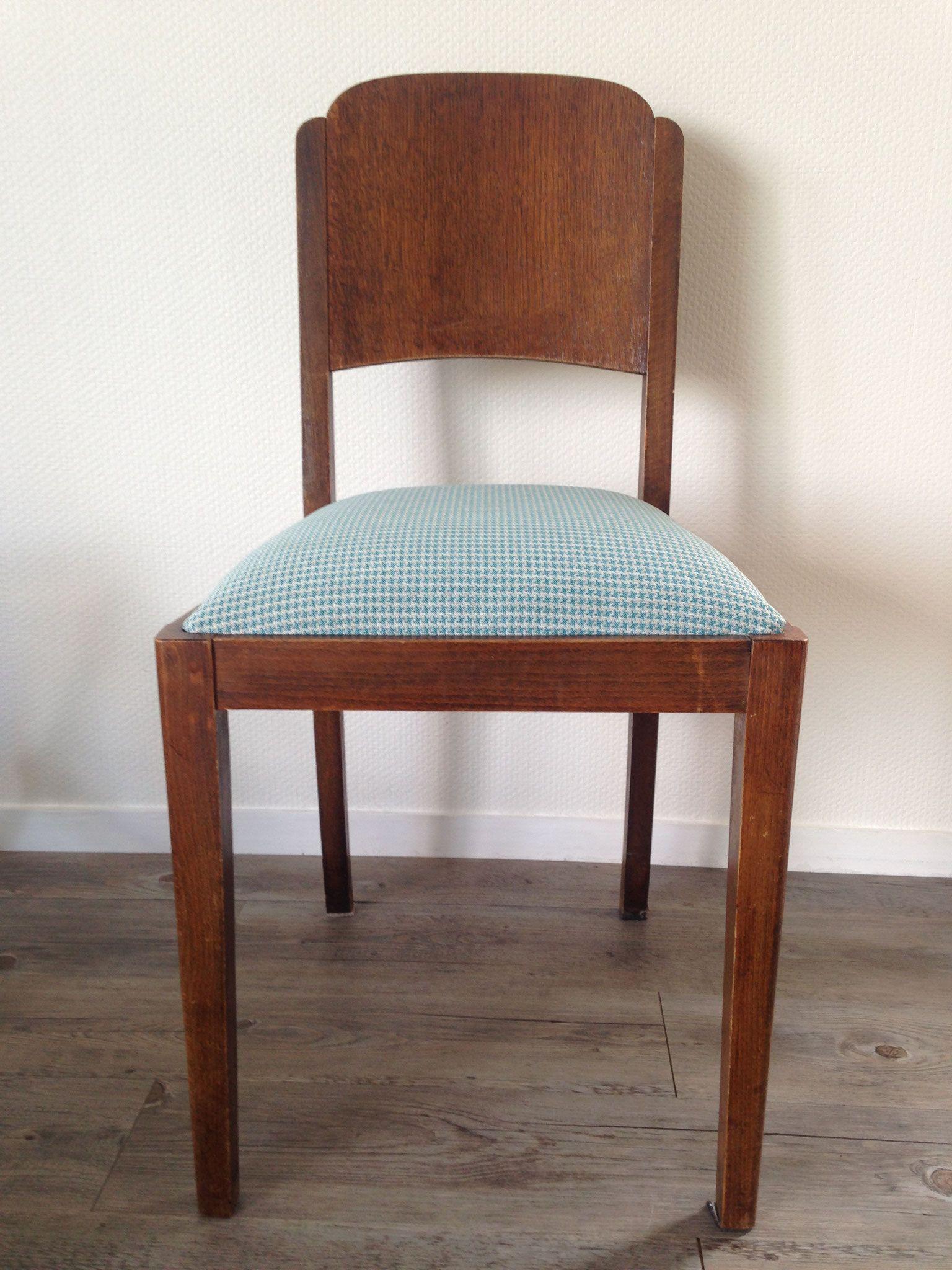 Série de 5 galettes pour chaises de salle à manger avec tissu