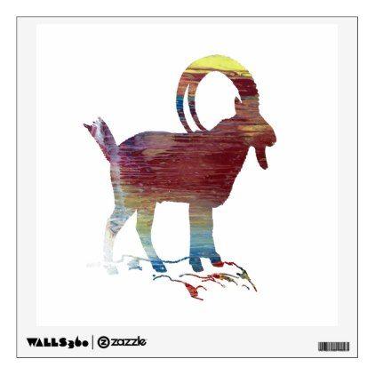 #Wild Goat Wall Decal - #nurseryart #nursey #art #baby #cute #print #babies