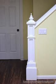 Best Newel Post With Half Wall Railing Diy Stairs Newel 400 x 300