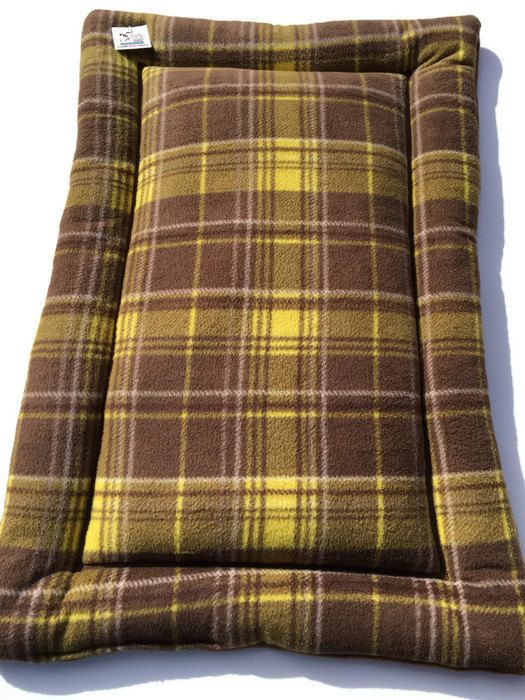 Plaid Dog Bed, Dog House Pads, Crate Pet Mats, Dog Crate Pad, Made in Colorado, Fleece Dog Bed, Couch Cover, Kennel Bed, Kennel Bedding #FleeceDogBed #MediumDogBed #PuppyBedding #DogCratePad #KennelBed #DogBedding #CratePetMats #RatePetMats #CouchCover #DogBed