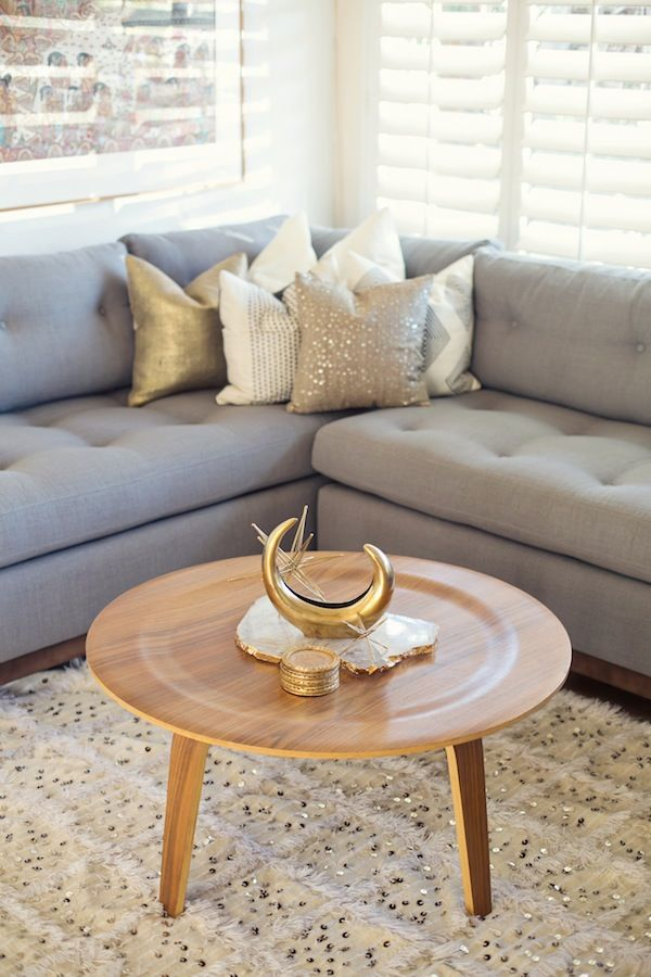 Wohnzimmer: gold/grau | Living at home - Living room | Pinterest ...