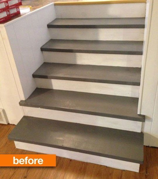 before after sarah 39 s stairs go faux in the best way. Black Bedroom Furniture Sets. Home Design Ideas