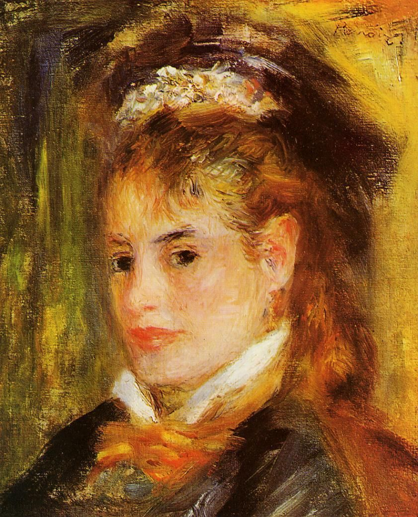 "Renoir: ""Portrait of a Young Woman"", 1876. (Private ..."