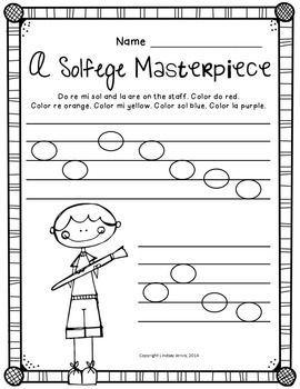 RE {READY SET PRINT!} - Solfege printable worksheets for elementary music teachers. Kodaly inspired classroom. TeachersPayTeachers.com #Kodaly #solfege #musicedchat #kodalyinspiredclassroom
