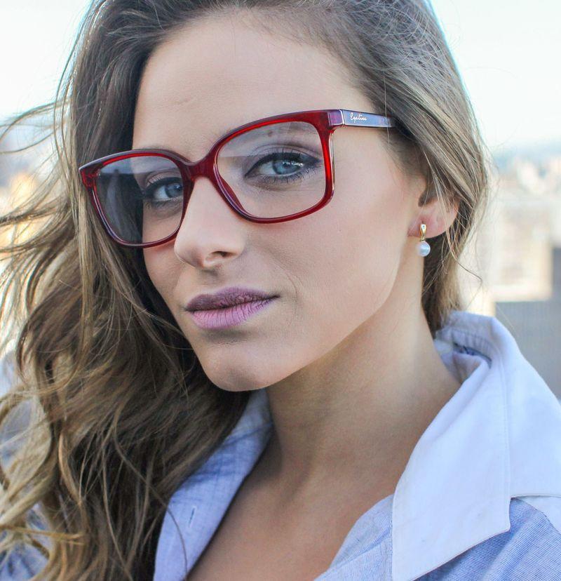 9aa18ba80 Óculos de Grau Feminino Eye Line By Safira #Safira #ÉPraVocê #SafiraOnline  #ÓculosdeGrau #Armações #SafiraEyeLine #ÓculosDeGrauVermelho