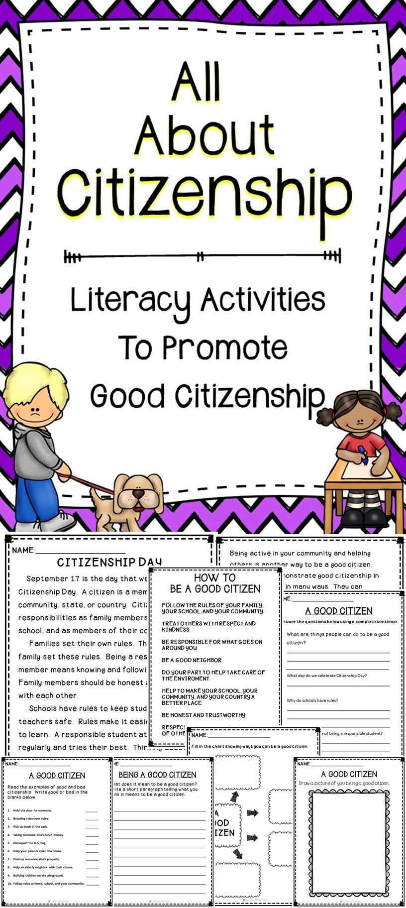 Citizenship Md Free And Paid School Worksheets