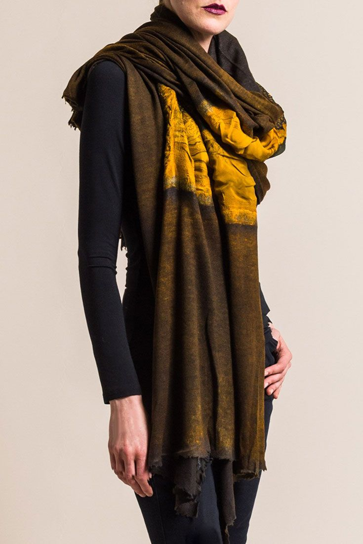 $1,355.00   Avant Toi Large Cashmere/Silk Felted Patchwork Scarf in Girasole   Avant Toi clothing, by Mirko Ghignone, is avant garde and elegant. It is created by using experimental hand-dyeing and processing on fine fabrics of cashmere and silk, as well as linen and cotton. The line crosses into elegant and artistic with a grungy aesthetic. This turquoise blue cashmere sweater is simple yet textural in color. Avant Toi is sold online and in-store at Santa Fe Dry Goods & Workshop in Santa…