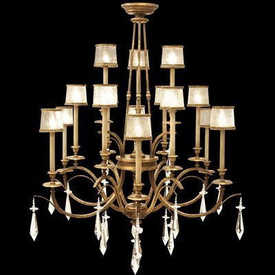 Fine Art Lamps Monte Carlo 15 Light Shaded Tiered Chandelier