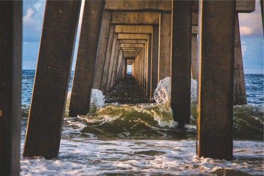 Pexels free stock photos. Bridge, Landing Stage, Ocean, Sea
