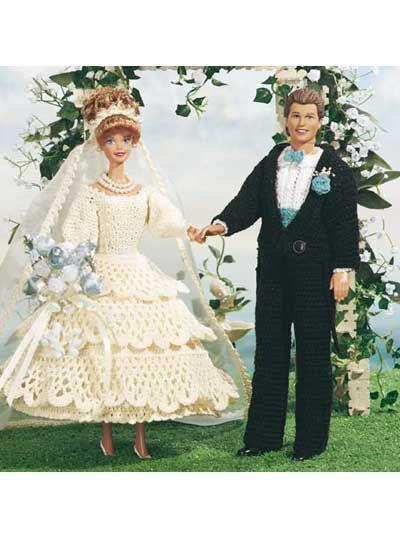 Barbie and Ken bridal set-free pattern. | Clothes For Ken ...