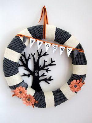 spooky pennant wreath