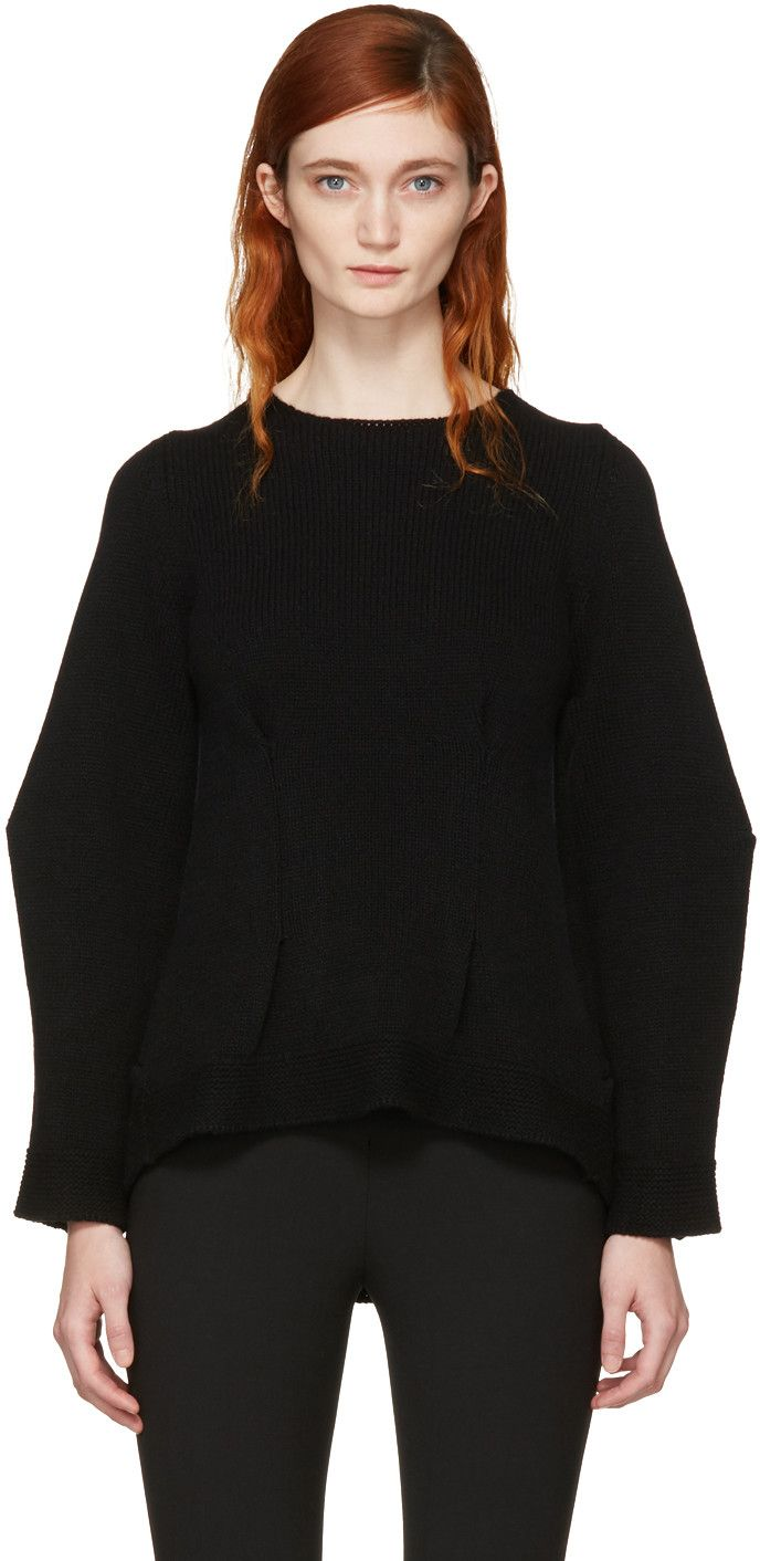 Black Cashmere Crewneck Sweater | Alexander McQueen, Cashmere and ...