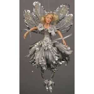 Silver Starlight Fairy Christmas Ornament Fairy And Doll
