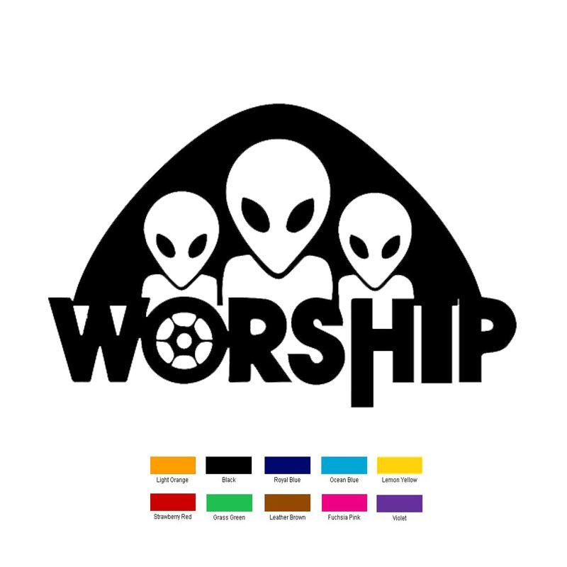 Wholesale Pcslot Cm X Cm Alien Worship Car Sticker For - Vinyl decals for cars wholesale