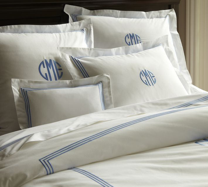 Monogrammed Pillow Cases Pottery Barn Grand Embroidered Sham