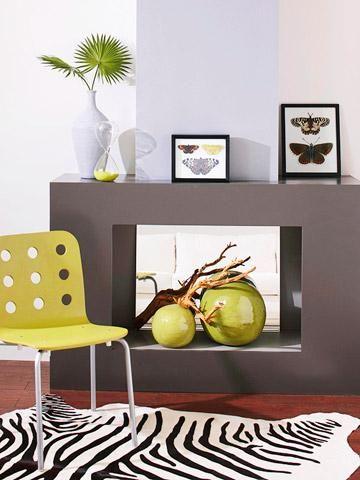 4 Ideas for Fireplace Decorating   White wash brick ...