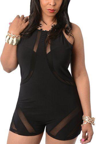 0e95366038336 Fashion Bug Womens Plus Size Sexy Slinky Sheer Mesh Cut Out Romper  www.fashionbug.us