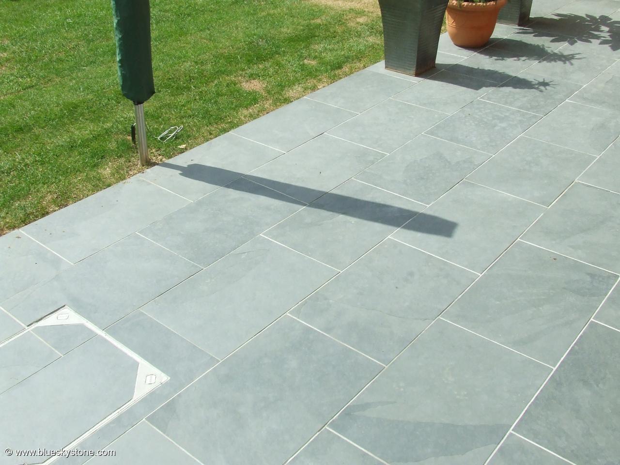Grey Blue Brazilian Slate Paving Patio Garden Slabs Tiles - Images ...