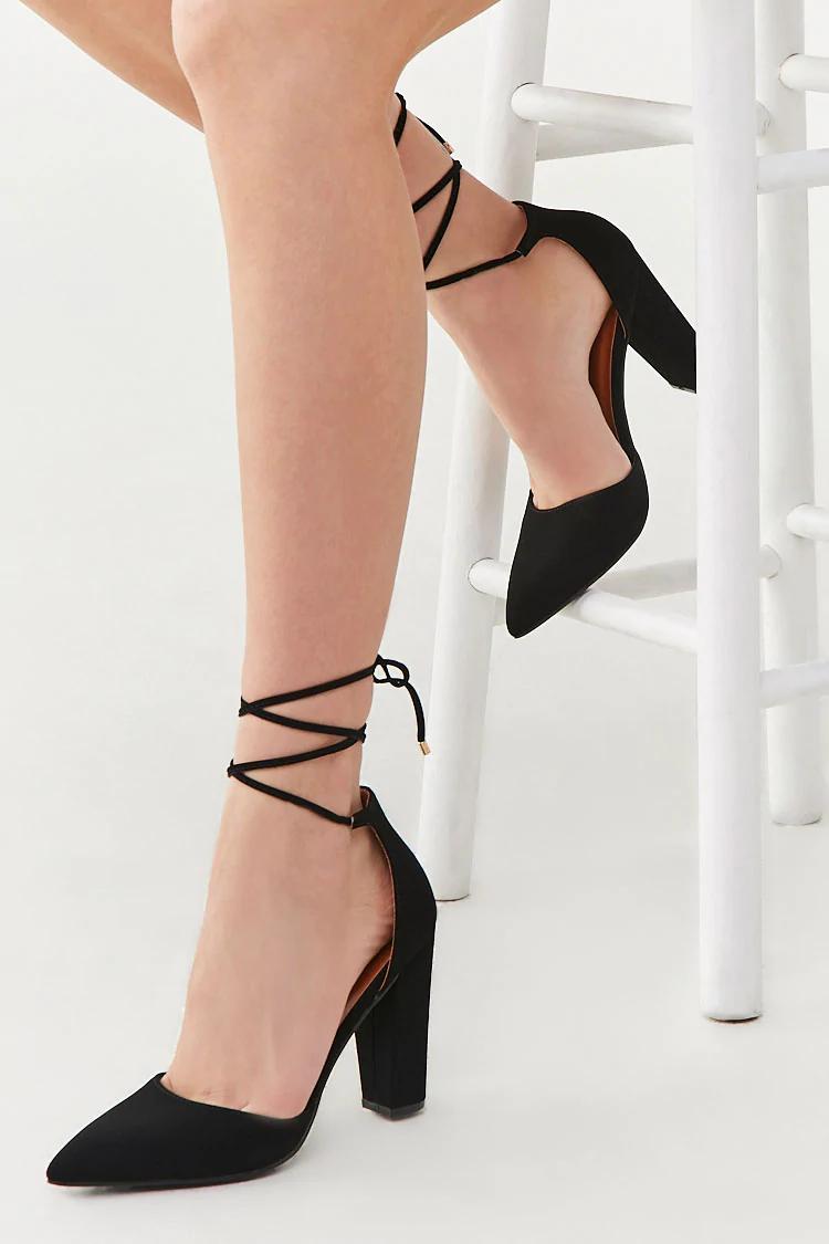 black lace pumps forever 21