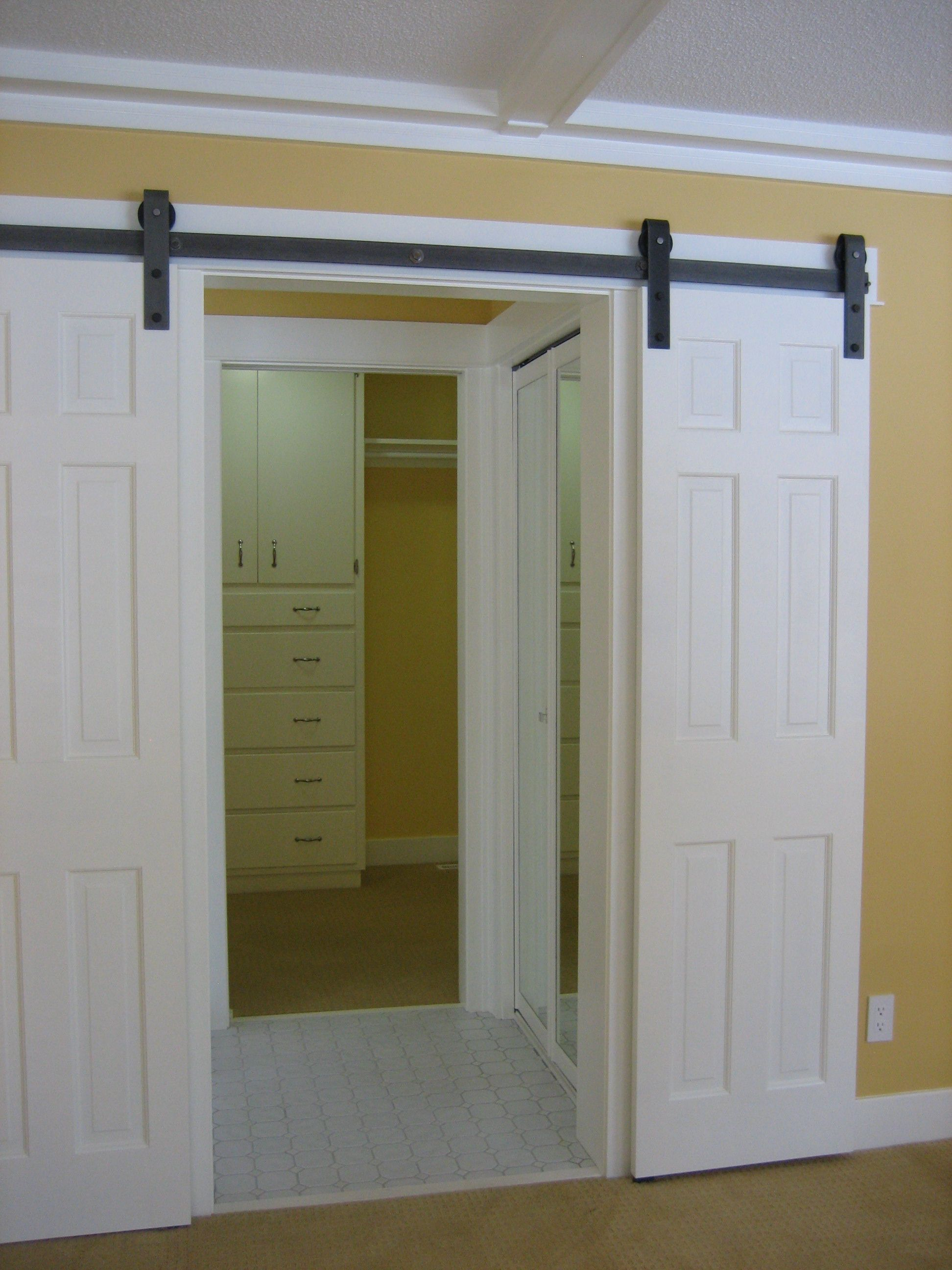 hardware source for barn door - I don\'t like it with the white, but ...